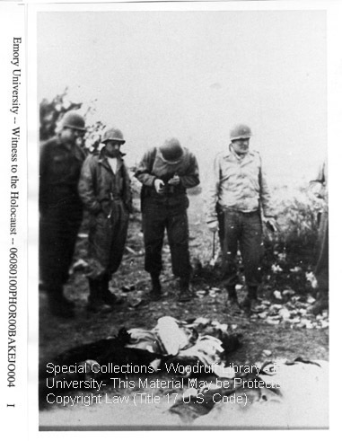 """2 SS Germans.  Russians recognized in town and killed""  [Ohrdruf]"