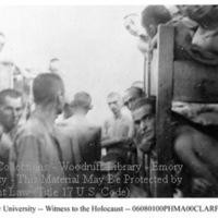 Male survivors in Mauthausen barracks