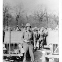 """Fred Mercer, Co. B, 69th Sig. Bn., XX Corps, 3rd Army""  [Ohrdruf]"