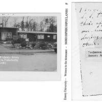 """""""This is where the S. S. troops had their offices, also our headquarters during our stay there"""" [Buchenwald]"""
