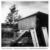 """Wooden coffins""  [Dachau]"