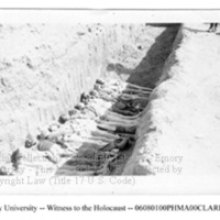 """Grave dug by Germans""  [Mauthausen]"