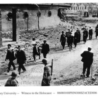 German civilians remove corpses of prisoners using stretchers (3 of 3)  [Nordhausen]